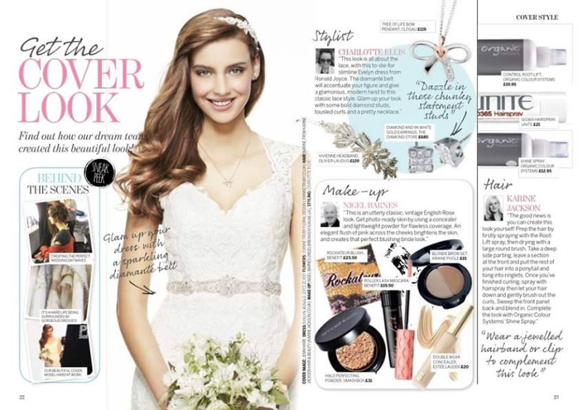 Perfect Wedding magazine featuring jewellery from TheDiamondStore.co.uk