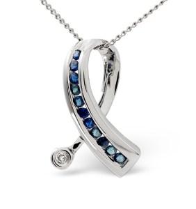 Sapphire Ribbon Pendant