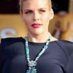 Celebrity wearing blue opal necklace