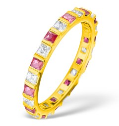 Ruby eternity ring for 40th anniversary