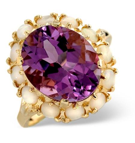 Opal & Amethyst Ring