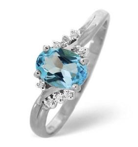 Blue topaz engagement ring