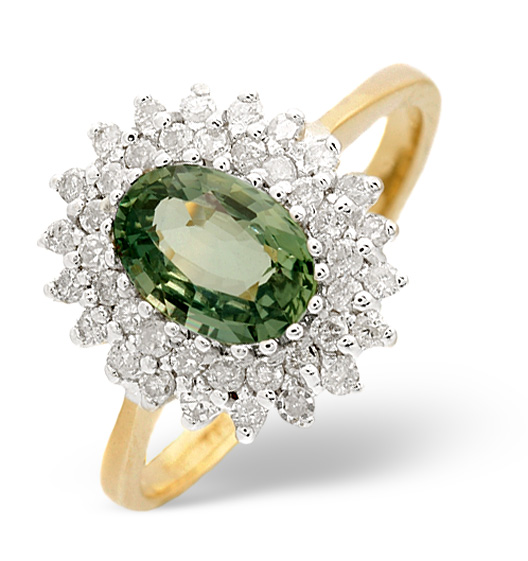 Green Sapphire - Meaning of Gem Colour in Engagement Rings