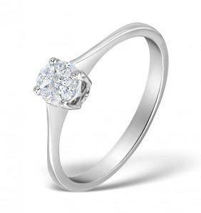 Galileo 0.17ct Diamonds in Platinum
