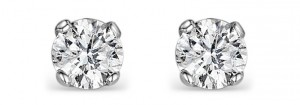 Diamond stud earrings are the ideal Christmas gift for any woman