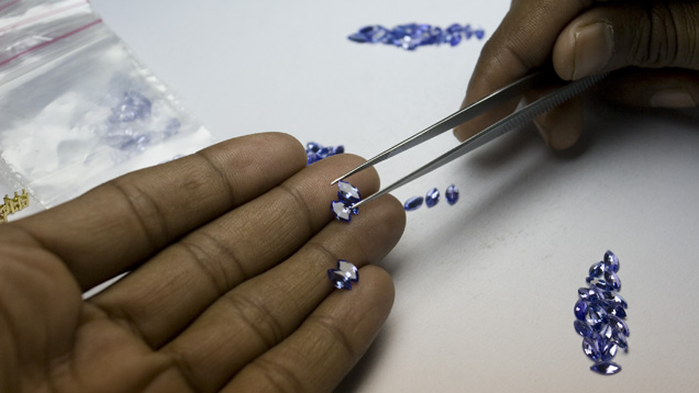 Tanzanite is blue-violet gem found only in Tanzania Africa