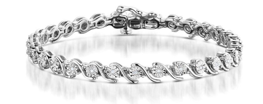 Best Christmas Jewellery Gifts - diamond bracelet silver twist