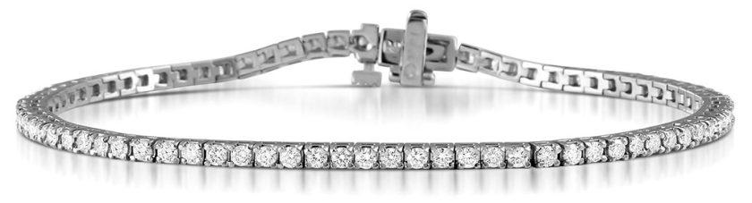 2-carat diamond tennis bracelet