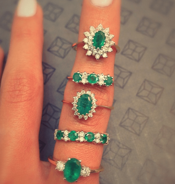 Emerald engagement rings by TheDiamondStore.co.uk