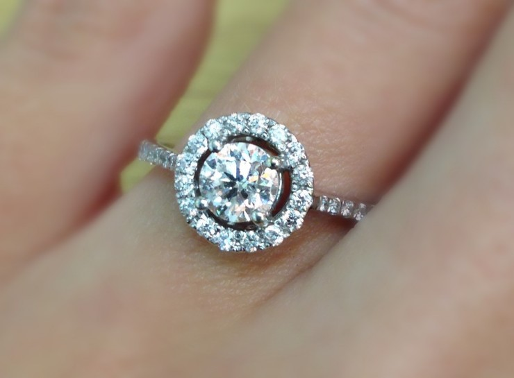 Ella Diamond Halo Ring 0.86CT