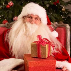 Kissing Santa Proposal