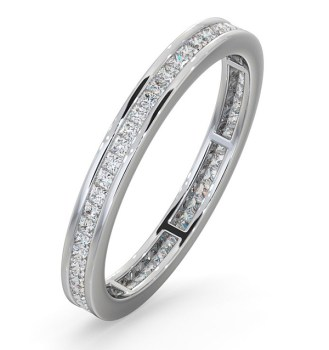 LAUREN PLATINUM DIAMOND ETERNITY RING 0.50CT