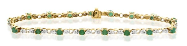 Emerald bracelet - green gemstone jewellery inspired by St. Patricks Day