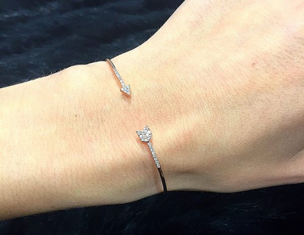 Rose gold arrow motif cuff bangle - Summer 2016 Jewellery