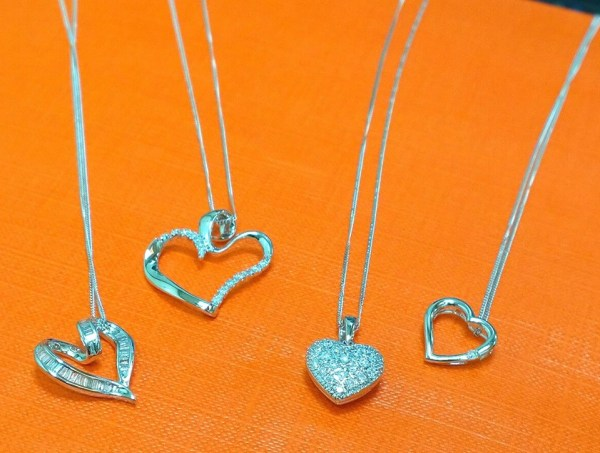 diamond heart necklaces - summer 2016 jewellery trends