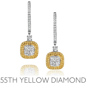 55th Anniversary Yellow Diamond - Wedding Anniversary Gemstone Jewellery