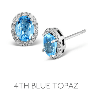 4th Anniversary Blue Topaz – Wedding Anniversary Gemstone Jewellery
