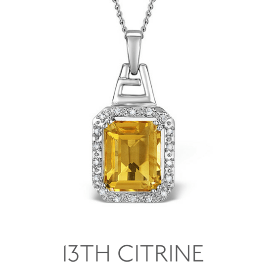 13th Anniversary Gem Citrine - Wedding Anniversary Gemstone Jewellery