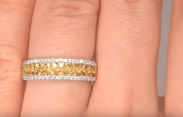 How to Create a Luxe Bridal Look - 18K GOLD YELLOW Diamond AND DIAMOND 0.90ct Ring YouTube