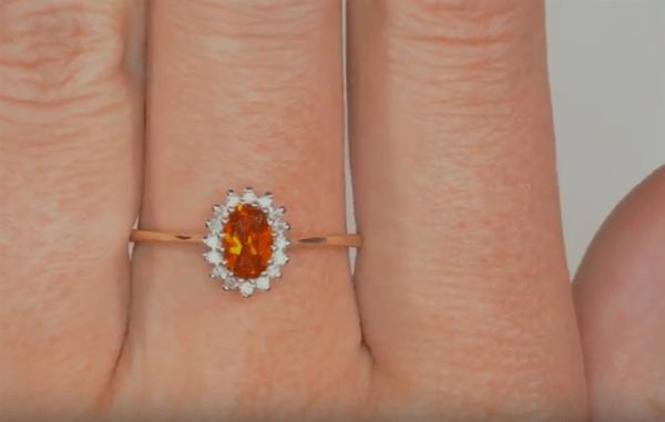 fire opal rings- Autumn Jewellery