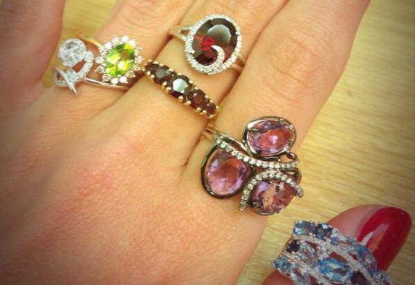 Gemstone rings- Autumn Jewellery