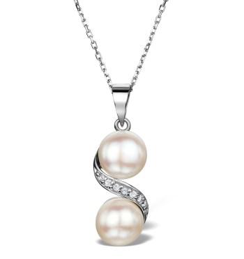 best necklaces pearl white topaz pendant