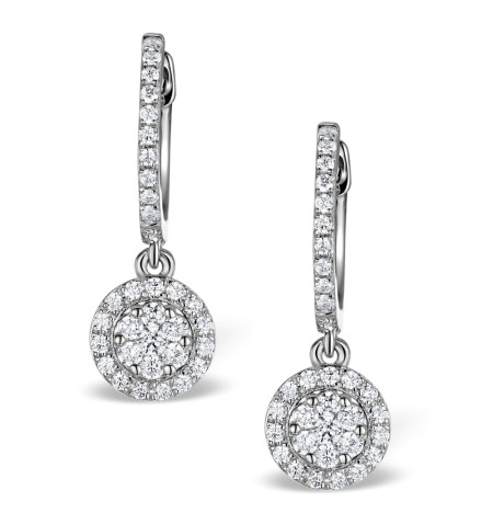 Best earrings - diamond halo drop earrings