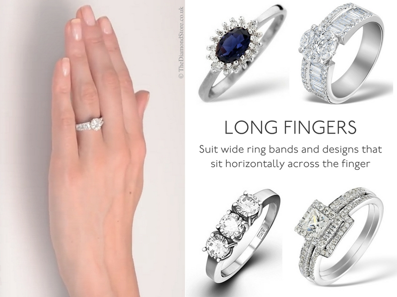 Best Engagement Ring for Your Hand - long fingers