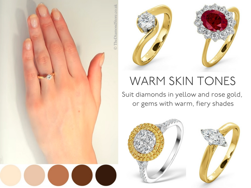 Best Engagement Ring for Your Hand - warm skin tones