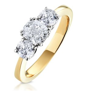 Meghan Markle 3 Diamond Engagement Ring - buy it here