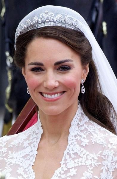The Cartier Halo Tiara on Kate Middleton - Meghan Markle's Wedding Day Jewellery
