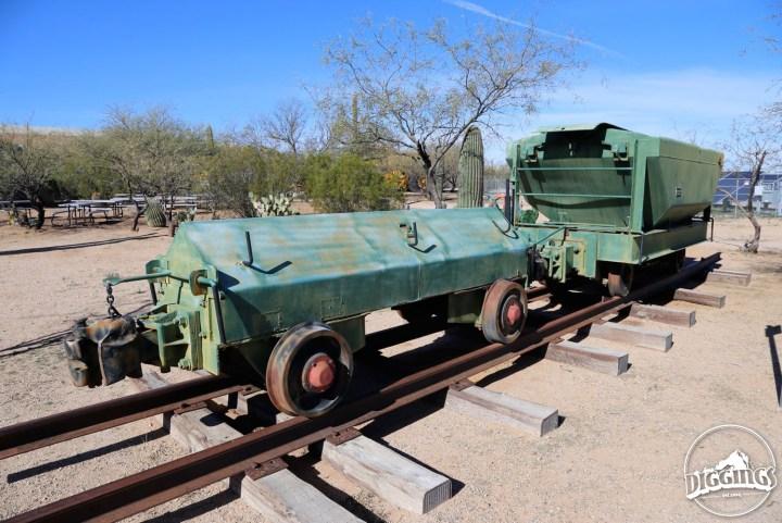 Ore Cart On Tracks