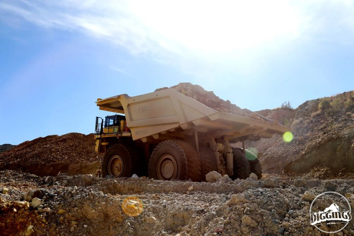 Haul truck in action