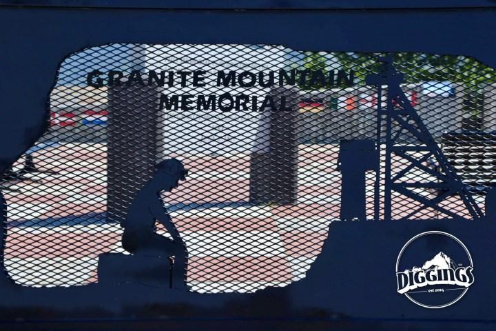 Granite Mountain Memorial wall decoration.