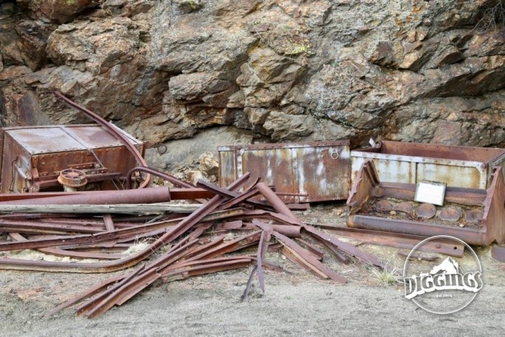 Tracks and ore cars from the Argo Tunnel at the Argo Gold Mine & Mill, Idaho Springs, Colorado