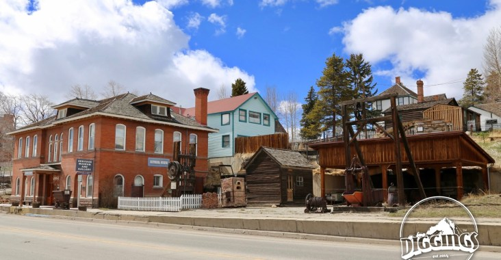 Outside the Leadville Heritage Museum and Gallery