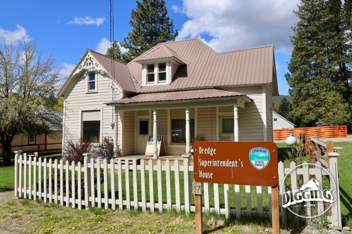 Dredge Superintendent's House at the Sumpter Valley Dredge State Heritage Area