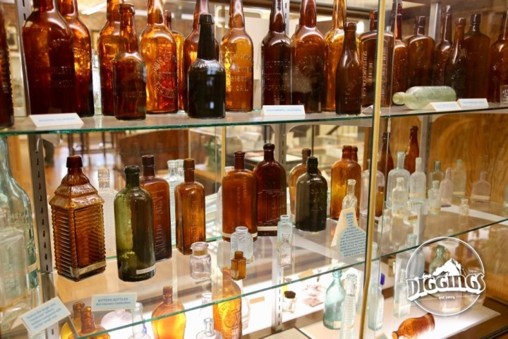Bottles at the Trinity County Jake Jackson Museum
