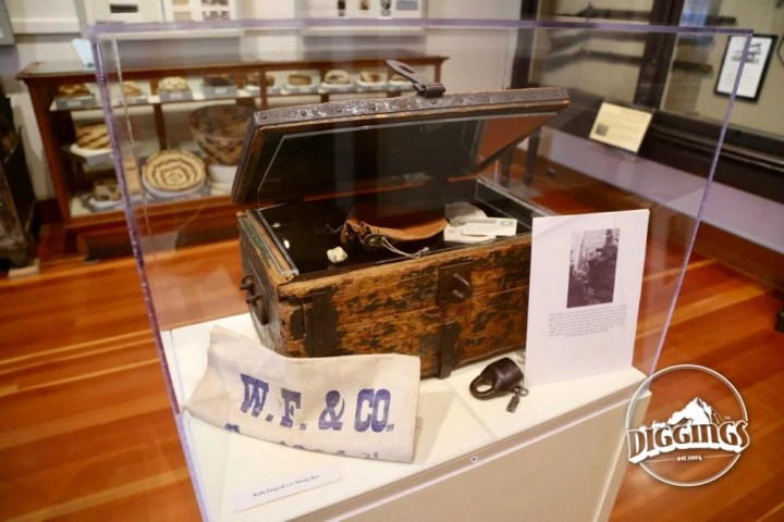 Wells Fargo & Co. Strong Box at the Shasta State Historic Park