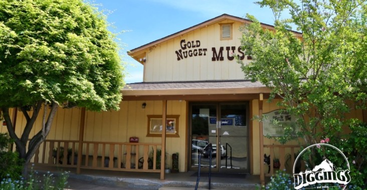 Outside the Gold Nugget Museum