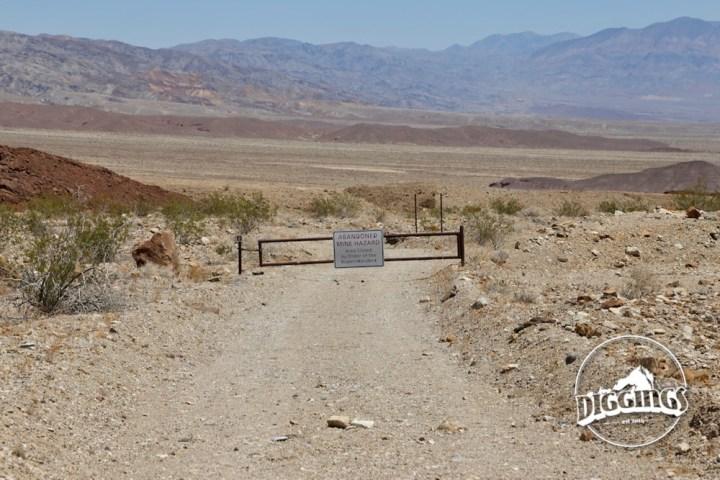 Road to the Keane Wonder Mine closed