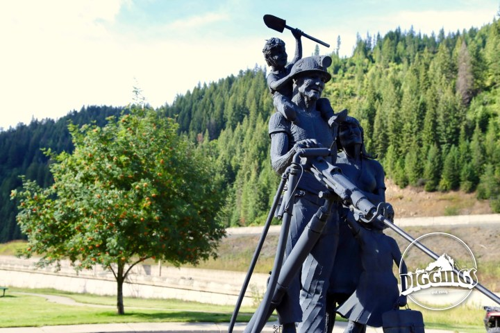 Statue dedicated to the miners and their families by Ken Lonn at the Wallace, Idaho Silver History Site