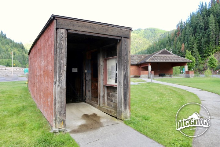Evolution tunnel with blast demonstration at the Wallace, Idaho Silver History Site