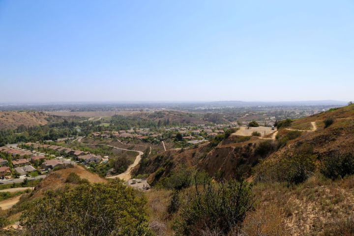 Vista of Orange County from along the Olinda Oil Trail.