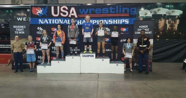 California's Cheyenne Bowman Wins USMC Girls Folkstyle Cadet Nationals; Macey Kilty of Team Wisconsin repeats - The Open Mat