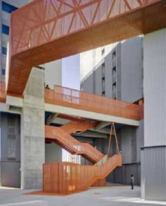 Sculptured Walkways and Staircase