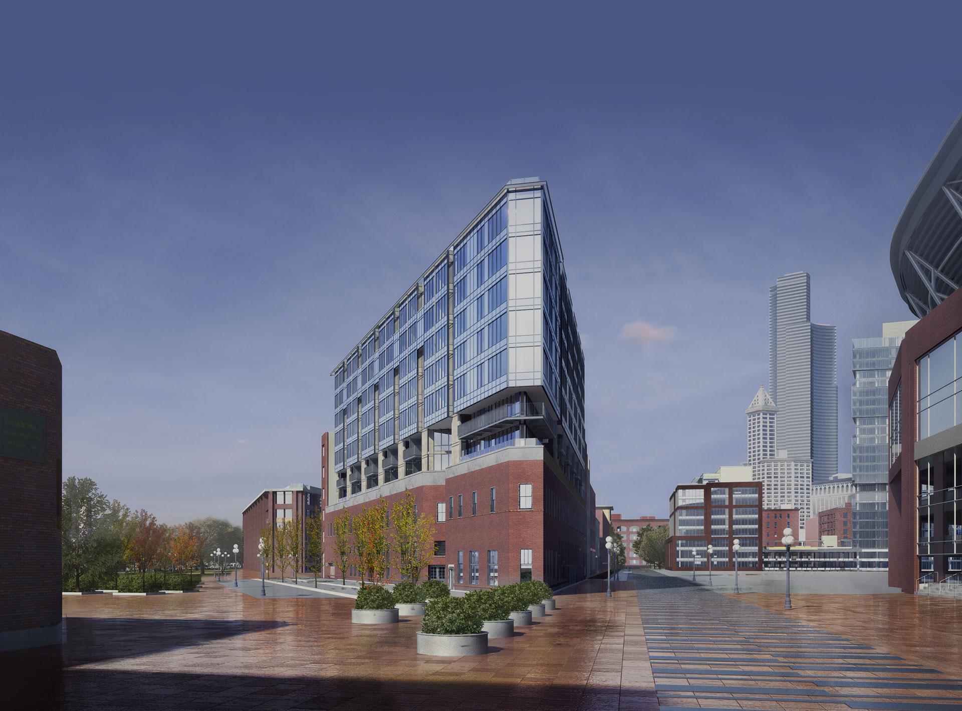 Architects In Seattle pioneer square s gridiron condominium tops at 50 percent sold