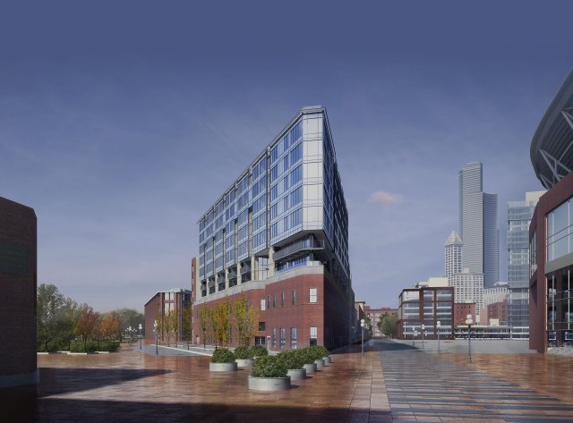 Pioneer Square's Gridiron, Hewitt Architects, Chinn Construction, Daniels Real Estate, Seattle, Puget Sound