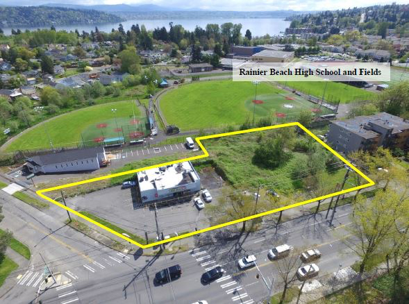 Rainier Beach Light Rail Station, Mt. Baker Housing, Seattle's Rainier Beach, Rainier Beach Community Center, Rainier Valley Food Bank, Mandatory Housing Affordability, Rainier Beach,