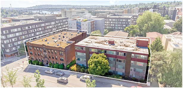Colliers, Tyee Apartments, Levere Apartments, University District, Seattle, Kennedy Tyee LLC & Levere LLC, University of Washington